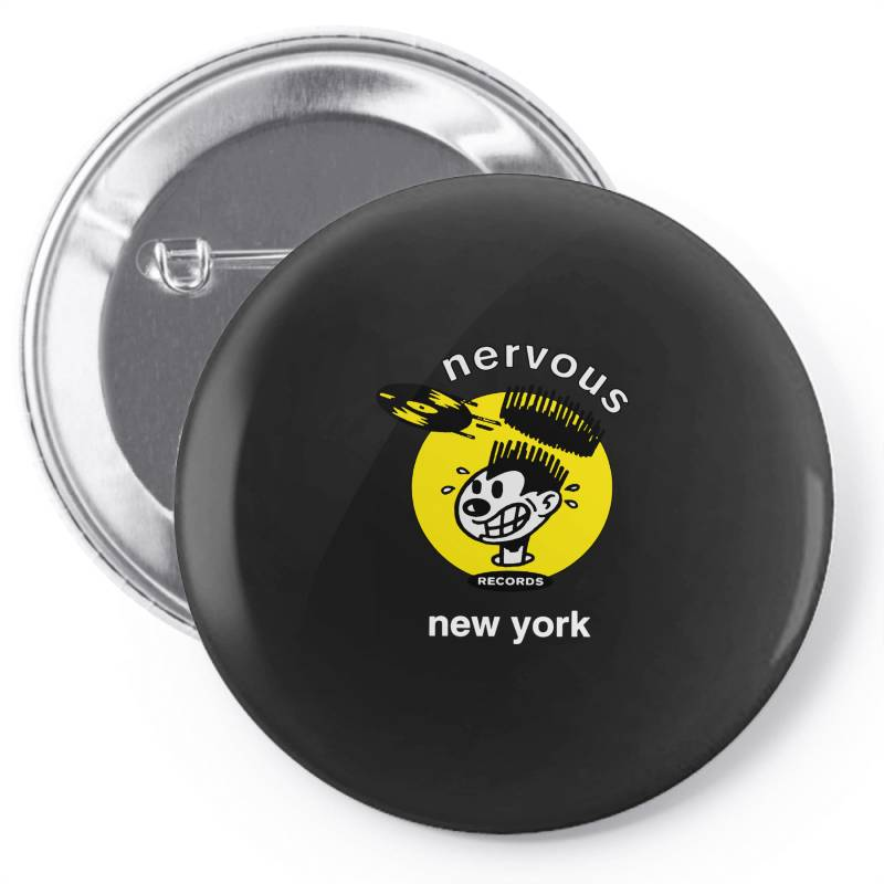 Nervous Records Pin-back Button | Artistshot