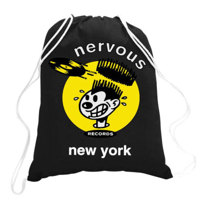 Nervous Records Drawstring Bags Designed By Schulz-12