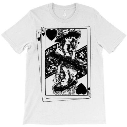 Queen Of Hearts Card T-shirt Designed By Danz Blackbirdz