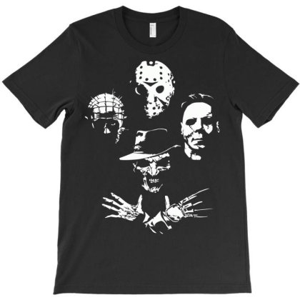 Horror Icons T-shirt Designed By Schulz-12