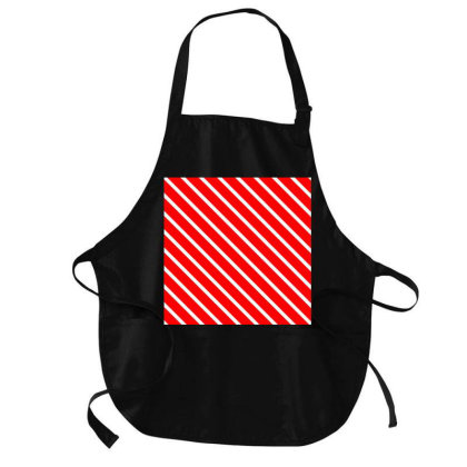 Red Colour Gradient Art Medium-length Apron Designed By American Choice