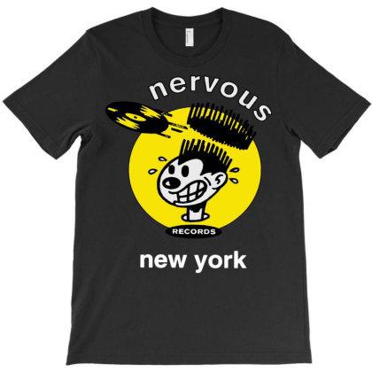 Nervous Records T-shirt Designed By Schulz-12
