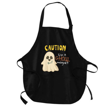 Halloween Ghoul Magnet Medium-length Apron Designed By Mrt90
