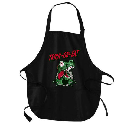 Dinosaur Trick Or Treat Halloween Scary Medium-length Apron Designed By Mrt90