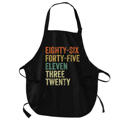 Eighty Six Forty Five Eleven Three Medium-length Apron Designed By Kakashop