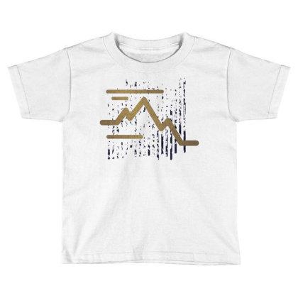 Stroke Mountain Toddler T-shirt Designed By Panduart