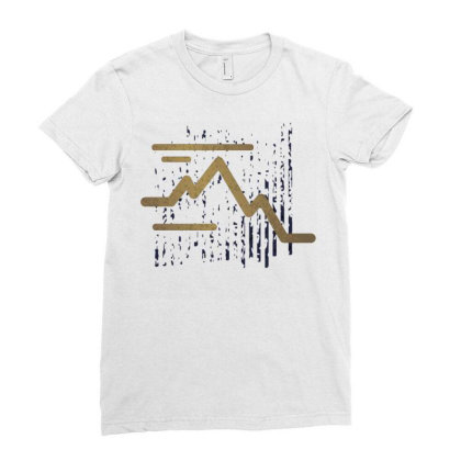 Stroke Mountain Ladies Fitted T-shirt Designed By Panduart