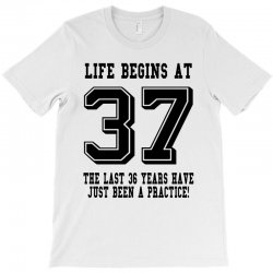37th birthday life begins at 37 T-Shirt | Artistshot