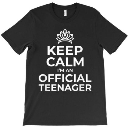 Keep Calm Birthday Official Teenager T Shirt 13th Funny T-shirt Designed By Conco335@gmail.com