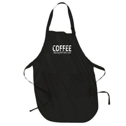 Coffee Completes Me Full-length Apron Designed By Bettercallsaul