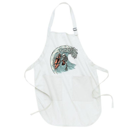 Death Surfer Full-length Apron Designed By Quilimo