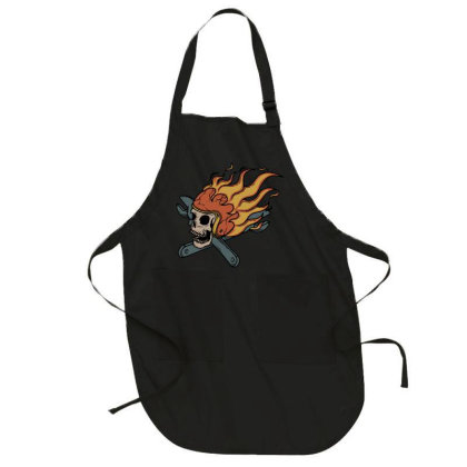 Rider And Fire Full-length Apron Designed By Quilimo