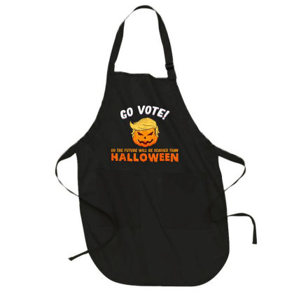 Vote Or The Future Will Be Scarier Than Halloween Full-length Apron Designed By Koopshawneen