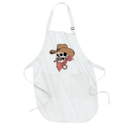 Skull Sheriff Full-length Apron Designed By Quilimo