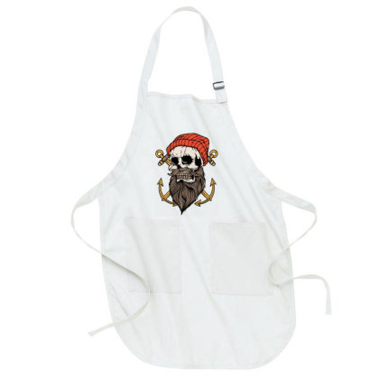 Skull Anchor Full-length Apron Designed By Quilimo