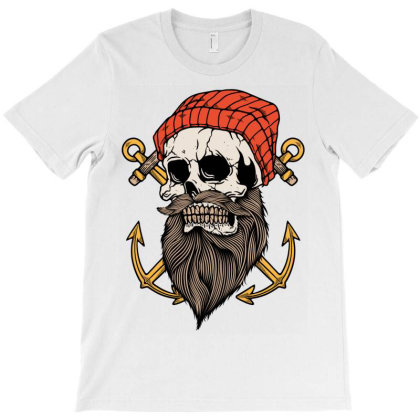 Skull Anchor T-shirt Designed By Quilimo
