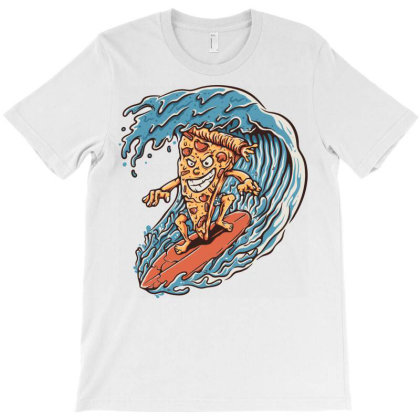 Pizza Surfer T-shirt Designed By Quilimo