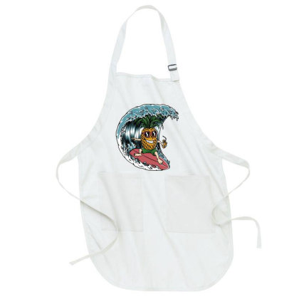 Pineapple Surfer Full-length Apron Designed By Quilimo