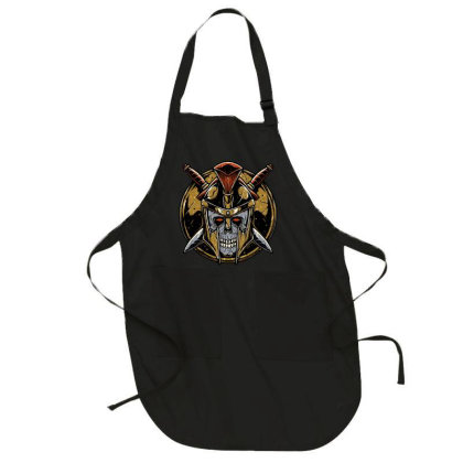 Skull Spartan Full-length Apron Designed By Quilimo