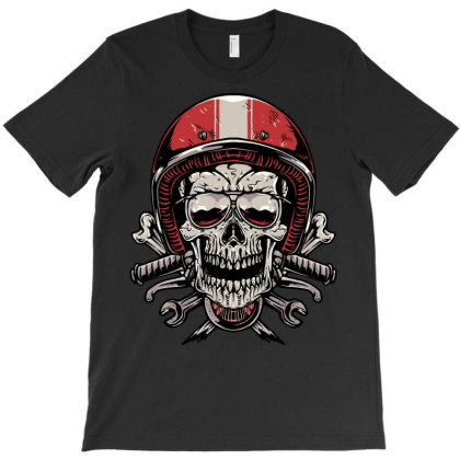 Skull Biker T-shirt Designed By Quilimo