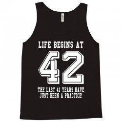 42nd birthday life begins at 42 white Tank Top   Artistshot