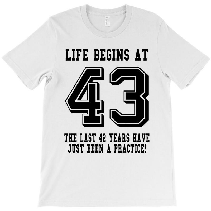 43rd Birthday Life Begins At 43 T-shirt | Artistshot