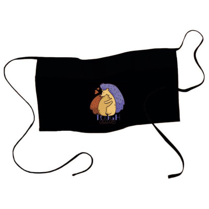 Tough Hedgehog Love Waist Apron Designed By Panduart