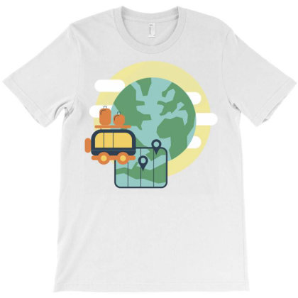 Travel The World T-shirt Designed By Panduart