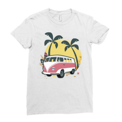 Travel 1 Ladies Fitted T-shirt Designed By Panduart