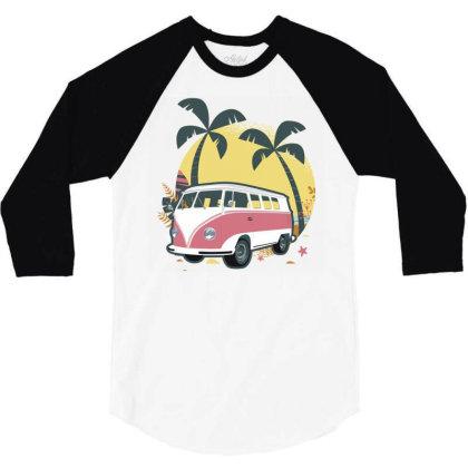 Travel 1 3/4 Sleeve Shirt Designed By Panduart