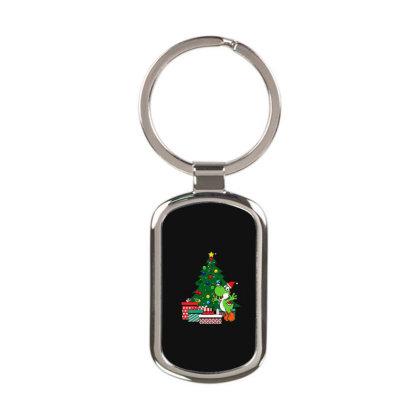 Yoshi Around The Christmas Tree Rectangle Keychain Designed By Jasmine Tees