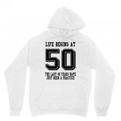 50th birthday life begins at 50 Unisex Hoodie | Artistshot