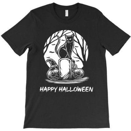 Scaredy Cat - Halloween Gift Funny T-shirt Designed By Diogo Calheiros