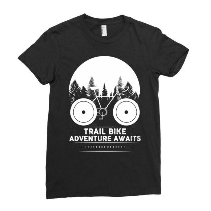 Trail Bike Adventure Awaits Ladies Fitted T-shirt Designed By Bettercallsaul