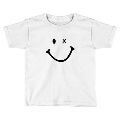 Smiling Face Toddler T-shirt Designed By Apollo