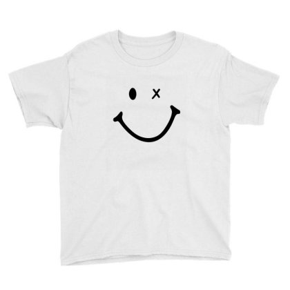 Smiling Face Youth Tee Designed By Apollo