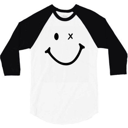 Smiling Face 3/4 Sleeve Shirt Designed By Apollo