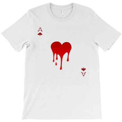 Womens Queen Of Hearts Gift Playing Card T-shirt Designed By Alparslan Acar