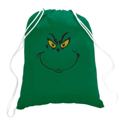 Grinch Printed Long Sleeve Hoodies Drawstring Bags Designed By Apollo