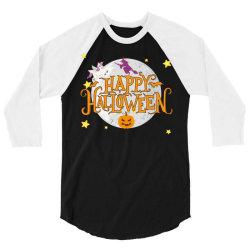happy halloween 3/4 Sleeve Shirt   Artistshot