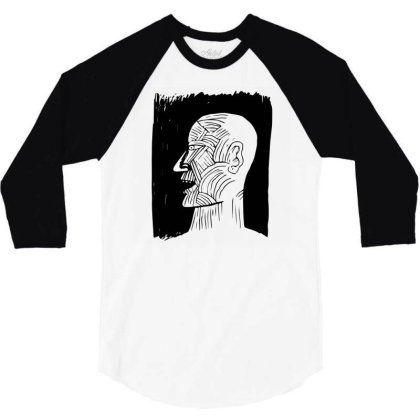 Ancient Man 3/4 Sleeve Shirt Designed By Beeyou