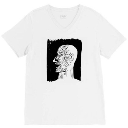 Ancient Man V-neck Tee Designed By Beeyou