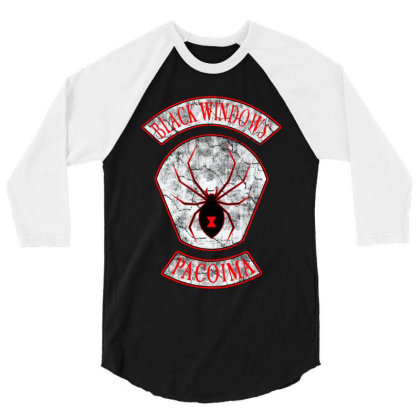 Black Widows Pacoima Every Which Way But Loose 3/4 Sleeve Shirt Designed By Top One