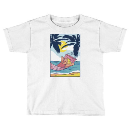 Woman Hammock Toddler T-shirt Designed By Panduart