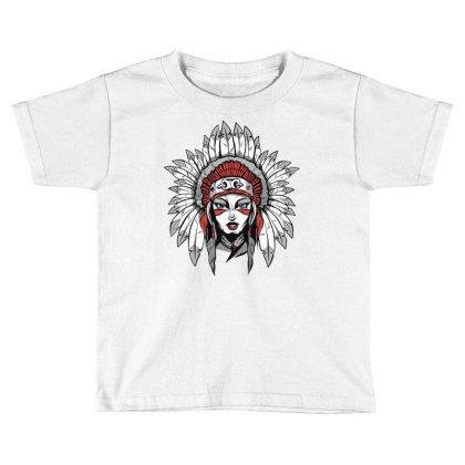 Woman With Headdress Toddler T-shirt Designed By Panduart