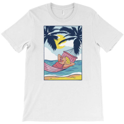 Woman Hammock T-shirt Designed By Panduart