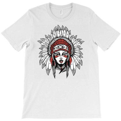 Woman With Headdress T-shirt Designed By Panduart