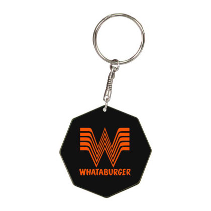 Whataburger Octagon Keychain Designed By Hot Maker