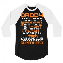 DADDY - Fathers Day - Gift for Dad_(O) 3/4 Sleeve Shirt | Artistshot