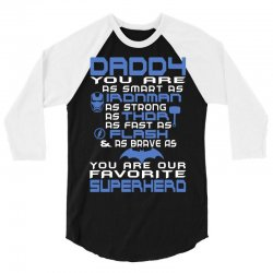 DADDY - Fathers Day - Gift for Dad _(B) 3/4 Sleeve Shirt | Artistshot